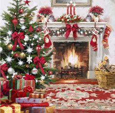 The Macneil Studio Christmas Hearth Square