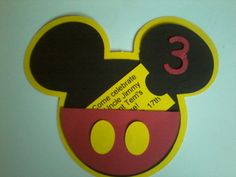 Cameo Creations Mickey Invitations done with my Silhouette Cameo! Cameo Creations