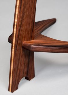 WM Guitar Stand in Rosewood with Curly Maple Inlay