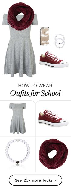 """School sucks"" by aadrianamariee on Polyvore featuring Topshop, BCBGMAXAZRIA, Converse, Everest, Casetify, women's clothing, women, female, woman and misses"