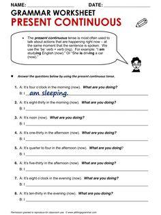 English Grammar Present Continuous www.allthingsgrammar.com/present-continuous.html