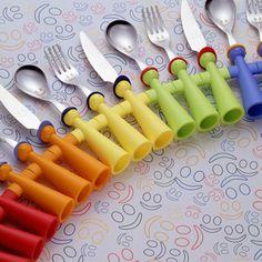Rivadossi Trebimbi Jingle 3 Piece Cutlery Set Loose Orange