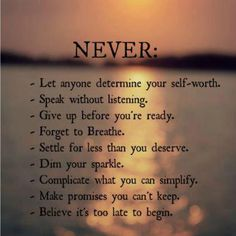 Never net anyone determine your self-worthQuote Gallery | Quote Gallery