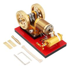 Stirling Engine Kit Suction Fire Type High-end Professional Edition Pure Copper Air Cylinder Heat Energy Model Physics Science Experiment Toy Model Engine Kits, Toy Steam Engine, Alcohol Lamp, Stirling Engine, Discovery Toys, Heat Energy, Science Notebooks, Physical Science, Model Airplanes