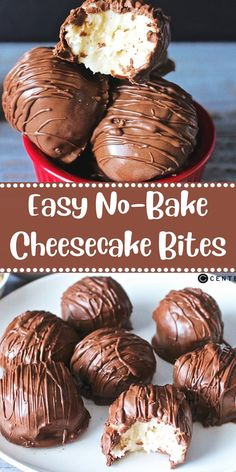 Easy No-Bake Cheesecake Bites Dapur Simbah ; einfache no-bake cheesecake bites dapur simbah Easy No-Bake Cheesecake Bites Dapur Simbah ; Easy No Bake Cheesecake, Cheesecake Bites, Cheesecake Desserts, Chocolate Cheesecake Recipes, Köstliche Desserts, Delicious Desserts, Dessert Recipes, Quick Dessert, Candy Recipes