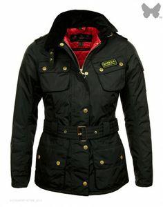 Barbour international bimota quilted parka coat
