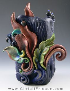"""This is one of my favorites from my """"Square Vessels"""" series.   #polymer…"""