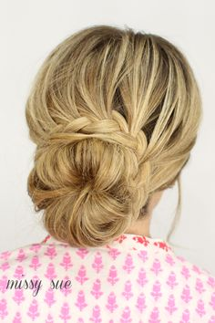 French Lace Braid Updo   MissySue.com