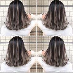 Scan @ 17 Jul 2019 AM --------------------------------------------- tworldisforhairdressers hair Kpop Hair Color, Ombre Hair Color, Balayage Hair Ash, Hair Highlights, Girl Hair Colors, Front Hair Styles, Hair Color Techniques, Pinterest Hair, Queen Hair