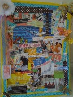 vision board!! Cool a bit cluttered for my decluttering commitment...but nice idea!
