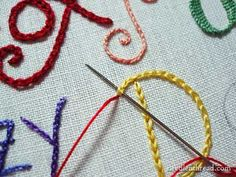 Hand Embroidery: Lettering and Text 10: Combining Stitches and Colors – Needle'nThread.com