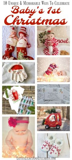 10 Ways To Celebrate Baby's Christmas - Lattes, Lilacs, & Lullabies Baby Christmas Photos, Babys 1st Christmas, Christmas Gifts For Women, Christmas Quotes, Christmas Time, Christmas Crafts, Christmas Decorations, Christmas Presents, White Christmas