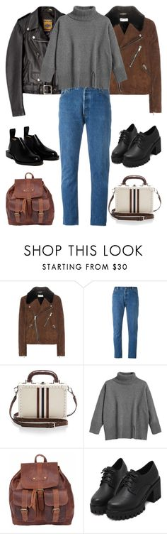 """""""2018"""" by skyl19 ❤ liked on Polyvore featuring Yves Saint Laurent, RE/DONE, Bertoni, Mahi and Paco Rabanne"""