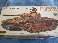 1960's Otaki 1/35 Scale German Medium Tank Pz Kpfw. 3 Model by MyHillbillyWays on Etsy