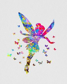 Tinker Bell 3 Watercolor Art