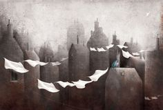 Gabriel Pacheco is a Mexican illustrator who has a rather simply haunting style.