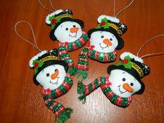 Moldes para hacer muñecos de nieve en fieltro03