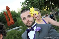 Who says grooms don't like flowers...