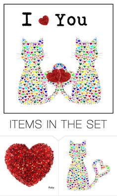 """""""I Heart You"""" by cravecute ❤ liked on Polyvore featuring art and valentine"""