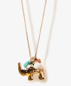 Elephant Charm Necklace | FOREVER21 - 1017884341