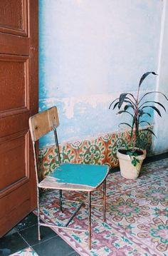 tiles in trinidad, cuba… Cuban Decor, Lucy Rose, Trinidad Cuba, Foto Poster, Sweet Home, Posters Vintage, Interior And Exterior, Interior Design, Diy Design