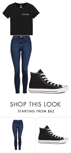 """Untitled #251"" by cruciangyul on Polyvore featuring Topshop and Converse"