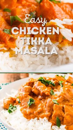 This Easy Chicken Tikka Masala Recipe is a delicious British Indian recipe made with a rich and creamy tomato curry sauce loaded with bold spices and chicken. Ready in about 30 minutes for a quick and easy weeknight meal! Easy Chicken Tikka Masala, Tikka Masala Sauce Recipe Easy, Tikka Masala Recipes, Indian Curry Sauce Recipe, Chicken Tikka Marsala Recipe, Mild Chicken Curry Recipe, Indian Chicken Masala, Chicken Tikka Marinade, Easy Curry Sauce