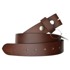 AFONiE Genuine Leather Belt without Buckle - Brown
