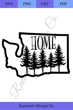 State of Washington with trees Washington State Outline, Cut Image, Best Blogs, That Way, Design Elements, Decor Ideas, Pdf Cut, Mom Group, Trees