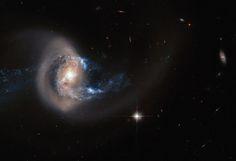 Spiral Galaxy NGC 7714   Earth Blog