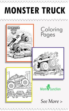 Huge, gargantuan, & gigantic are few words that we think about when we set our eyes on monster trucks. Here is the printable monster truck coloring pages for kids. Color & have fun