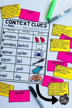 Teach students to use context clues to figure out unknown words with this engaging hands-on resource. This bundle includes 5 days of mini lessons, an anchor chart, task cards, partner games, activities, a vocabulary journal, and a quick assessment. This is a complete hands-on mini unit that will add fun and excitement to your classroom. #HollieGriffithTeaching #TeacherIdeas #ClassroomResources #TeacherCreatedResources
