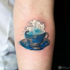 Watercolor wave in a cup by Haruka