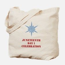 Tote Bag for celebrating the first day of Juneteenth Day Celebration.   sewalott.com