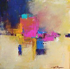 Abstract Artists International: Spectrum, Original Contemporary Abstract Painting by Missouri Artist Elizabeth Chapman