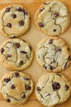 Crisp tops and edges, soft chewy centers. Loaded with lots of chocolate chips. These are the perfect chocolate chip cookies!!!