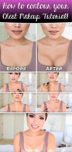 How to contour your Chest Makeup Tutorial!
