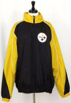 00d1525ba Pittsburgh Steelers Half-Zip Soft Shell G III Jacket Windbreaker XL  GIII   PittsburghSteelers