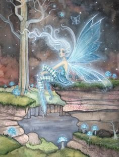 Fairy Art - Molly Harrison - Blue Ember