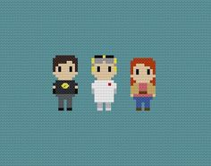 Dr. Horrible's Sing Along Blog Cross Stitch by GeekyStitches, $3.50