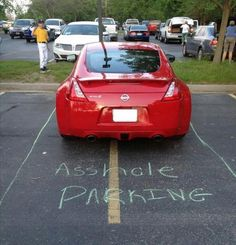 I have got to start keeping chalk in the car. lol