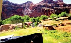 Supai tribe's village, located at the bottom of the Grand Canyon
