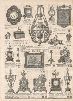 antique victorian objects and collectibles. old newspaper. retro..