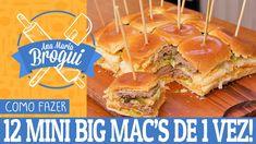 COMO FAZER 12 MINI BIG MAC'S DE UMA VEZ!   Ana Maria Brogui #409