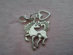 Silver coloured metal horse pony equine charm by CraftyBunnyDog, £1.99