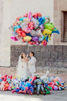 Colored Balloons <3 Foto: Weddingdreams Photography