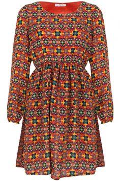 The Geometrique Print Dress - Clothing #vintage #dresses #sixties #retro #ilovevintage