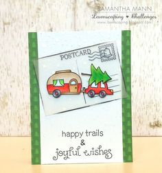 happy trails & joyful wishes card - ls, watermark