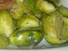 Брюссельская капуста в чесночном соусе