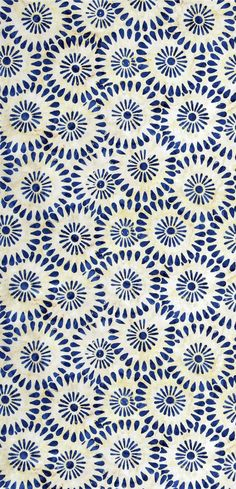 coquita - pattern - blue / white